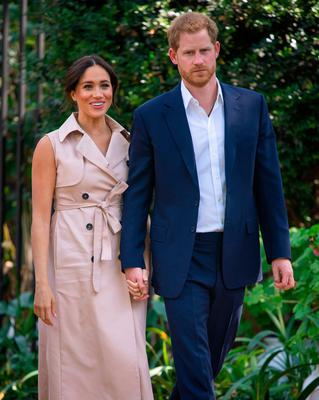 Exit: Meghan and Harry plan to reveal the reason behind their  decision to step away from their royal lives in a biography called 'Finding Freedom'. Picture: PA