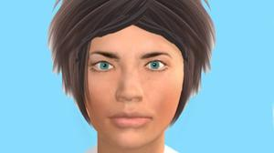 Researchers used human-like digitised faces for the study (Abertay University/PA)