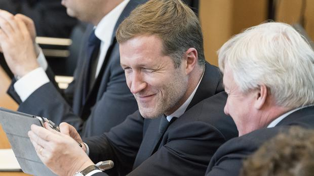 Minister-president of Wallonia Paul Magnette attends a session in the Walloon Parliament in Namur, Belgium (AP)