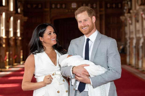 'Transition': Prince Harry and Meghan Markle wish to raise son Archie in both the UK and North America. Photo: Reuters