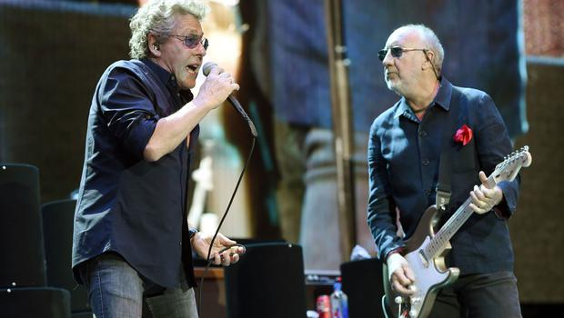 Roger Daltrey and Pete Townshend of The Who perform at the 2016 Desert Trip music festival in Indio, California (Chris Pizzello/Invision/AP)