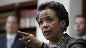 Loretta Lynch is in line to become America's first black woman attorney general (AP)
