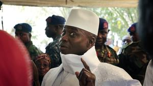 Gambia's defeated leader Yahya Jammeh said he has decided to cede power, under the threat of military action (AP Photo/Jerome Delay, File)