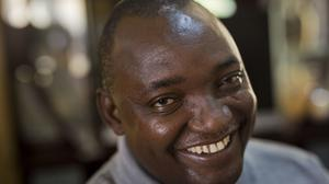 Gambian President-elect Adama Barrow is expected to return from Senegal to take up power (AP Photo/Jerome Delay, File)