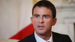 "French prime minister Manuel Valls said ""today we have to live with a kind of permanent state of emergency"""
