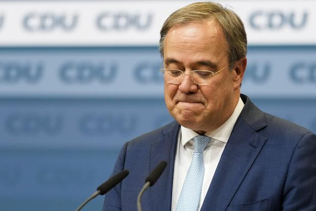 Christian Democratic Union party chairman Armin Laschet has signalled a willingness to step down after his party's worst ever result (AP)