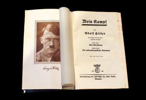 A copy of Adolf Hitler's book 'Mein Kamp'. Photo: Reuters