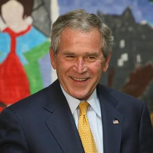 Former US president George Bush has become a grandfather