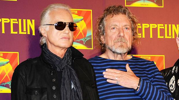 Guitarist Jimmy Page and singer Robert Plant are defendants in the US copyright case (AP)