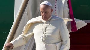 Pope Francis arrives in Sri Lanka at the start of his Asian tour (AP)