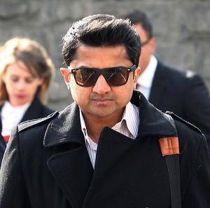 Praveen Halappanavar arrives for the inquest into his wife's death