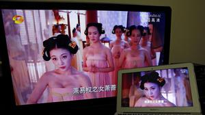 The censors have acted over too much cleavage on Chinese television