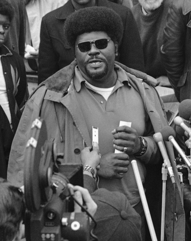 PANTHERS: Elbert Howard in Washington in 1970. Photo: AP
