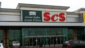 General view of an SCS furniture store in Wednesbury, West Midlands.