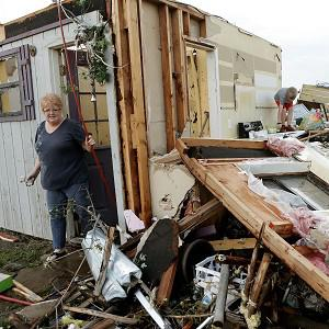 Homes in Oklahoma have been damaged by a series of tornadoes (AP)