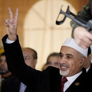 Libyan interim president Mohammed el-Megarif may be ousted under a new law (AP)