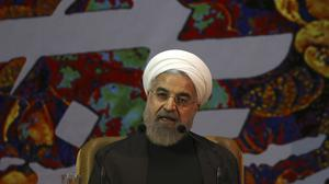 """Hassan Rouhani says Iran is pursuing a """"dignified"""" agreement with the US, Russia, China, Britain, France and Germany (AP)"""