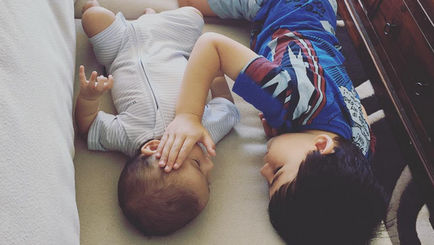 William comforting his baby brother Thomas Photo: Instagram