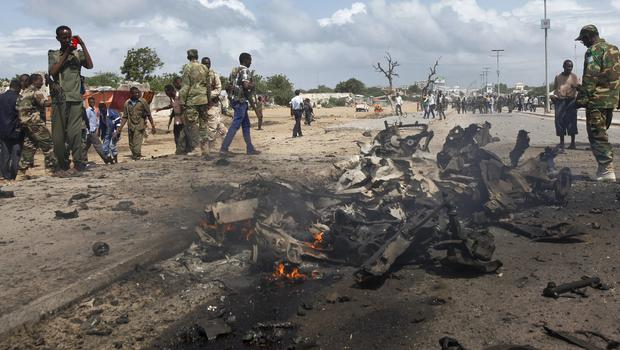 The attack happened in Somalia, and follows a suicide car bomb attack in Mogadishu earlier this week (AP)