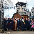 Solidarity: Muslim and Jewish leaders visit Auschwitz, the WWII death camp where the Nazis killed more than 1.1 million people. Photo: Bartosz Siedlik/AFP via Getty Images