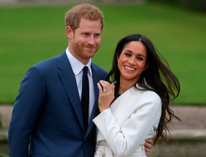 Family feud: Prince Harry with Meghan Markle, who says she gave financial contributions to her father Thomas Markle