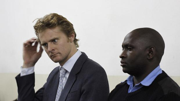 British national Jack Alexander Wolf Marrian appears at Kibera Law Court in Nairobi, Kenya (AP)