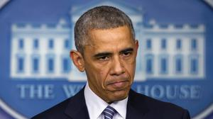 President Barack Obama speaks to the media in the briefing room of the White House (AP)