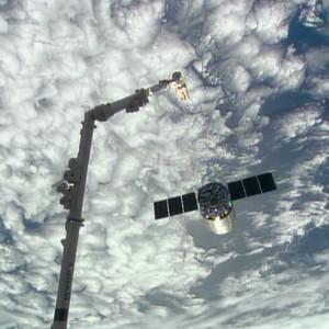 The Cygnus supply ship is released from the International Space Station (AP/Nasa)