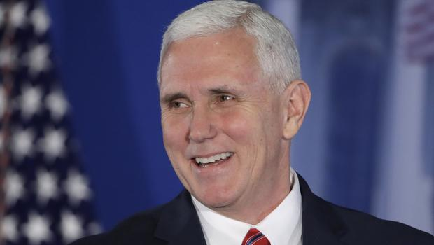 Mike Pence was the featured speaker at the 132nd annual Gridiron Dinner (AP)