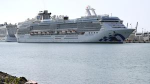 The Coral Princess cruise ship arrives at Port Miami (Lynne Sladky/AP)
