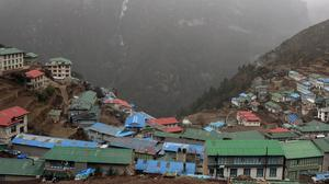 Nepal has been hit by a new environmental blow - a landslide which has blocked a mountain river