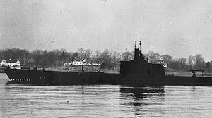 USS Grenadier (SS-210) off Portsmouth, New Hampshire (US Navy/PA)