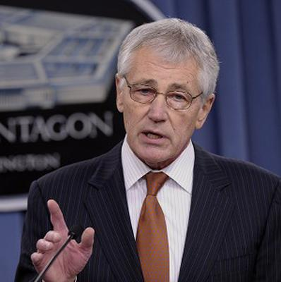 Chuck Hagel is reportedly planning to cut the size of the US army (AP Photo/Susan Walsh)
