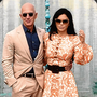 Cyber attack: Amazon boss Jeff Bezos and girlfriend Lauren Sanchez on a visit at the Taj Mahal in India on Tuesday. Photo: Getty Images