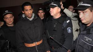 Fritz-Joly Joachin was arrested on January 1 while trying to cross from Bulgaria into Turkey. (AP)