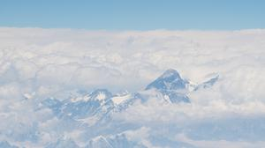 General view of Mount Everest and the Himalayas