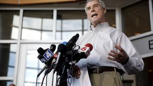 Prosecutor Robert McCulloch has expressed scepticism at claims that the shooter did not target officers. (AP)