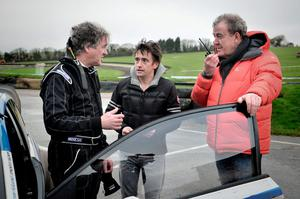 James May and Richard Hammond pictured with Clarkson during filming of Top Gear