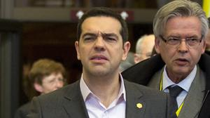 Prime minister Alexis Tsipras's coalition government has rejected a call for Greece to miss its next IMF debt payment (AP)