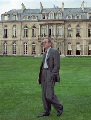 Jacques Chirac in the garden of the Elysee Palace in Paris in 1996 (Francois Mori/AP)