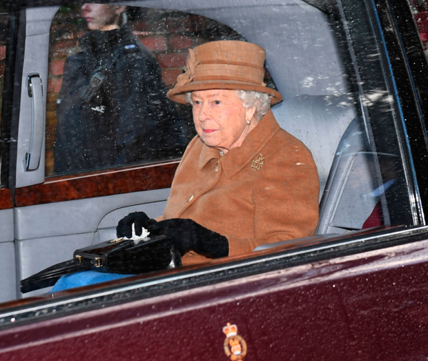 Plenty to ponder: Queen Elizabeth leaves church in Sandringham, Norfolk, England, yesterday. Photo: PA