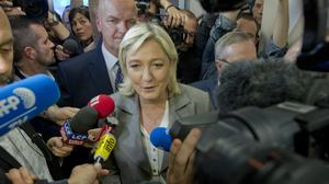 Front National leader Marine Le Pen said she was satisfied by the result (AP)