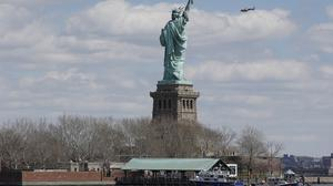 The Statue of Liberty was evacuated after a bomb threat (AP)