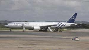 The Air France plane was diverted to Kenya amid the bomb alert (AP)