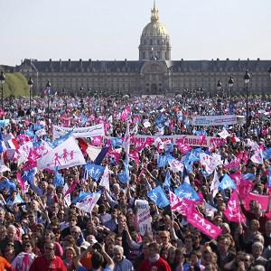 The bill to legalise gay marriage in France prompted months of widespread protests