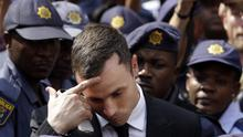 Oscar Pistorius outside the High Court in Pretoria, South Africa (AP Photo/Themba Hadebe)