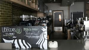 Starbucks said that its global sales plunged in the first three months of the year as coronavirus-related shutdowns crippled its global operations (Mark Lennihan/AP)