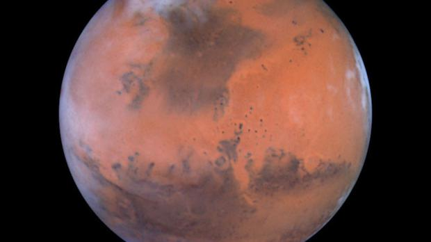 Martian snow storms could pose a potential danger to future human explorers visiting the planet, the experts warn. Stock picture