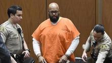"Marion ""Suge"" Knight pictured arriving in court for an earlier hearing (AP/Pool Photo)"