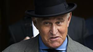 Roger Stone was being grilled on air about his conviction for lying to Congress (Manuel Balce Ceneta/AP)